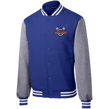 Load image into Gallery viewer, Sin City embroidered ST270 Sport-Tek Fleece Letterman Jacket