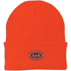 HCP4x4 orange & blue embroidered logo CP90 Port Authority Knit Cap