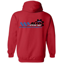 Load image into Gallery viewer, AVD black logo 2-sided print G185 Gildan Pullover Hoodie 8 oz.