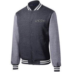 SHO embroidered ST270 Sport-Tek Fleece Letterman Jacket