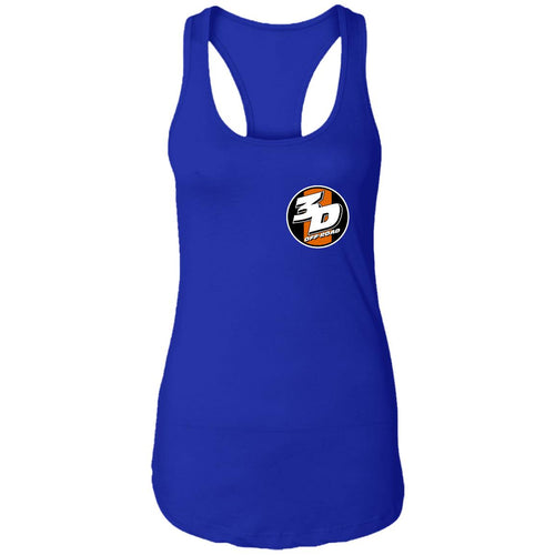 3D Offroad 2-sided print NL1533 Next Level Ladies Ideal Racerback Tank