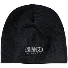Load image into Gallery viewer, Enhanced Installs silver embroidered CP91 100% Acrylic Beanie