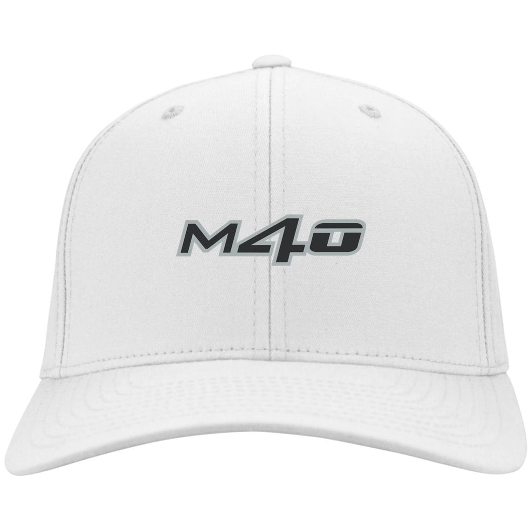M4O embroidered logo C813 Port Authority Flex Fit Twill Baseball Cap