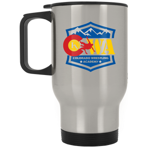 Colorado Wrestling Academy XP8400S Silver Stainless Travel Mug