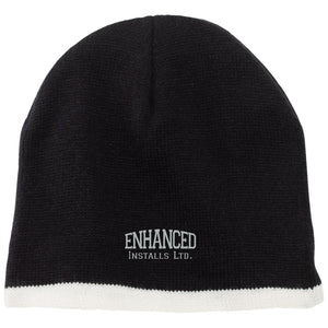 Enhanced Installs silver embroidered CP91 100% Acrylic Beanie