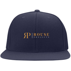 Rouse Projects - Gold & Silver embroidered 6297F Flat Bill Fullback Twill Flexfit Cap