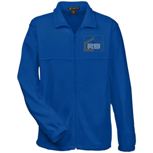 Rullo embroidered logo M990 Harriton Fleece Full-Zip