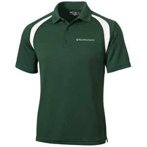 MacMechanic silver embroidered logo T476 Sport-Tek Moisture-Wicking Tag-Free Golf Shirt