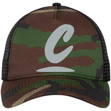 Load image into Gallery viewer, Corner Cannabis embroidered logo NE205 Snapback Trucker Cap