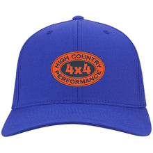 Load image into Gallery viewer, HCP4x4 orange & blue embroidered logo C813 Port Authority Flex Fit Twill Baseball Cap