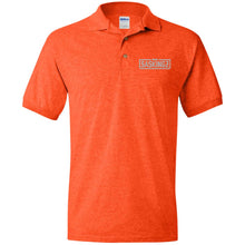 Load image into Gallery viewer, SASKINGZ silver embroidered logo G880 Gildan Jersey Polo Shirt