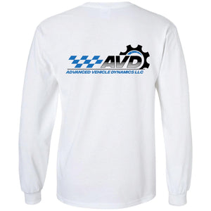 AVD black logo 2-sided print G240 Gildan LS Ultra Cotton T-Shirt