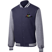 Load image into Gallery viewer, CO Springs Home School Sports League embroidered logo ST270 Sport-Tek Fleece Letterman Jacket