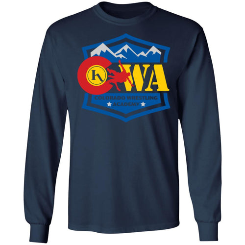 Colorado Wrestling Academy 2-sided print G240 Gildan LS Ultra Cotton T-Shirt