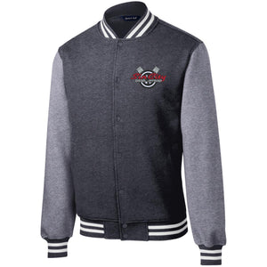 Sin City embroidered ST270 Sport-Tek Fleece Letterman Jacket