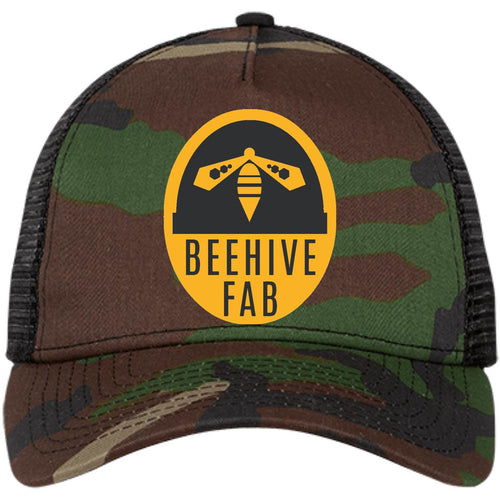 Beehive FAB embroidered logo NE205 New Era® Snapback Trucker Cap
