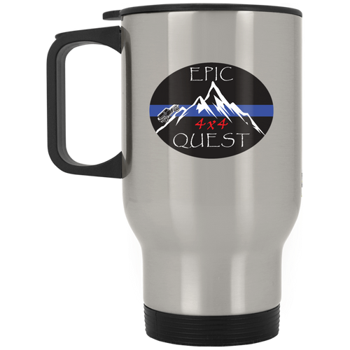 Epic 4x4 Quest XP8400S Silver Stainless Travel Mug