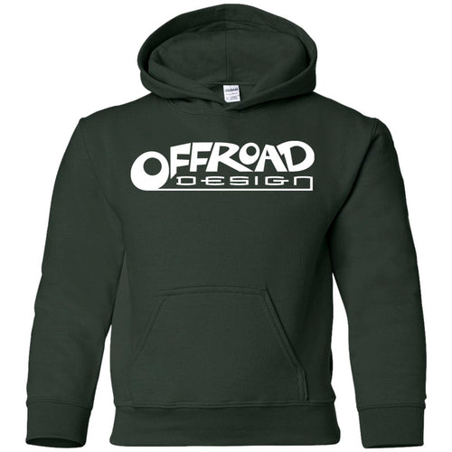 Offroad Design white logo G185B Gildan Youth Pullover Hoodie