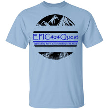 Load image into Gallery viewer, Circle EPIC Mountain Black and Blue G500B Youth 5.3 oz 100% Cotton T-Shirt
