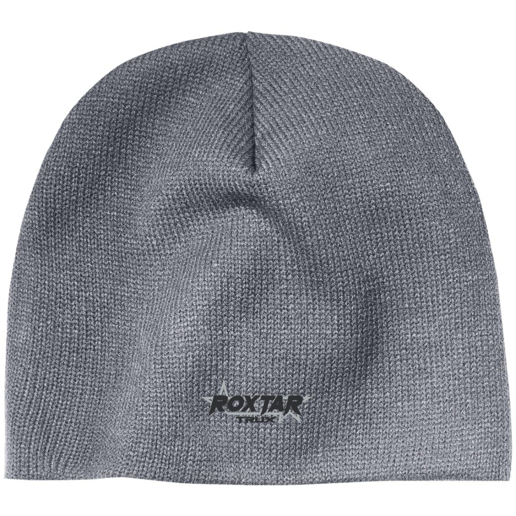 Roxtar Trux black and silver embroidered logo CP91 100% Acrylic Beanie