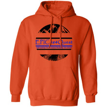 Load image into Gallery viewer, Circle EPIC Mountain Black and Blue G185 Pullover Hoodie 8 oz.
