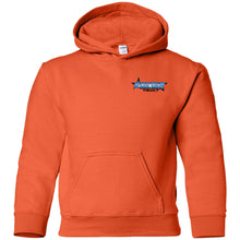 Load image into Gallery viewer, RoxtarTrux 2-sided logo G185B Gildan Youth Pullover Hoodie