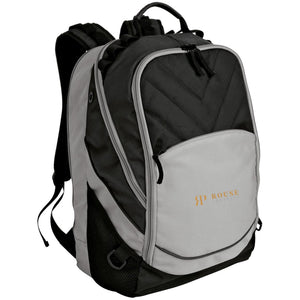 Rouse Projects - Gold & Silver embroidered BG100 Port Authority Laptop Computer Backpack