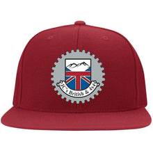 Load image into Gallery viewer, JC's British silver embroidered logo 6297F Flat Bill Fulback Twill Flexfit Cap
