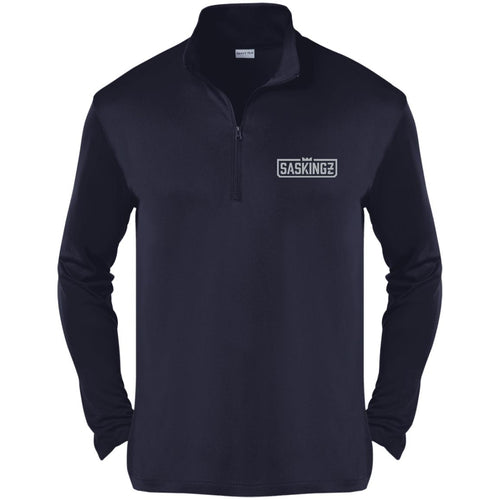 SASKINGZ silver embroidered logo ST357 Sport-Tek Competitor 1/4-Zip Pullover