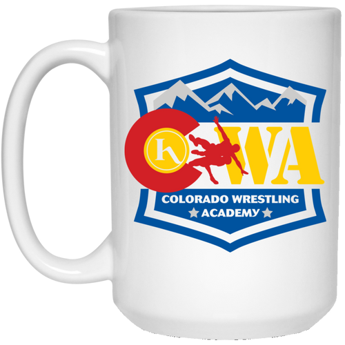 Colorado Wrestling Academy 21504 15 oz. White Mug