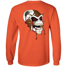 Load image into Gallery viewer, Dark Side Racing 2-sided print w/ skull on back G240 Gildan LS Ultra Cotton T-Shirt