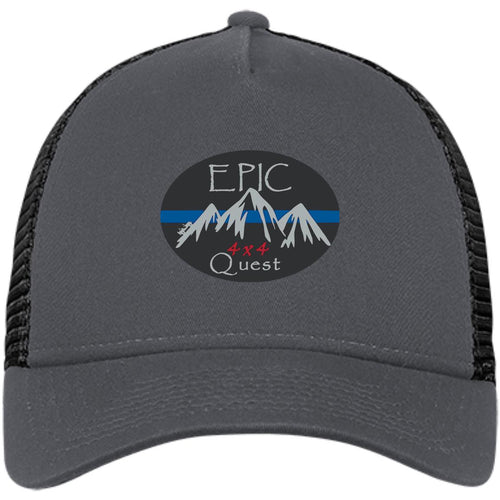 EPIC 4x4 Quest embroidered logo NE205 New Era® Snapback Trucker Cap