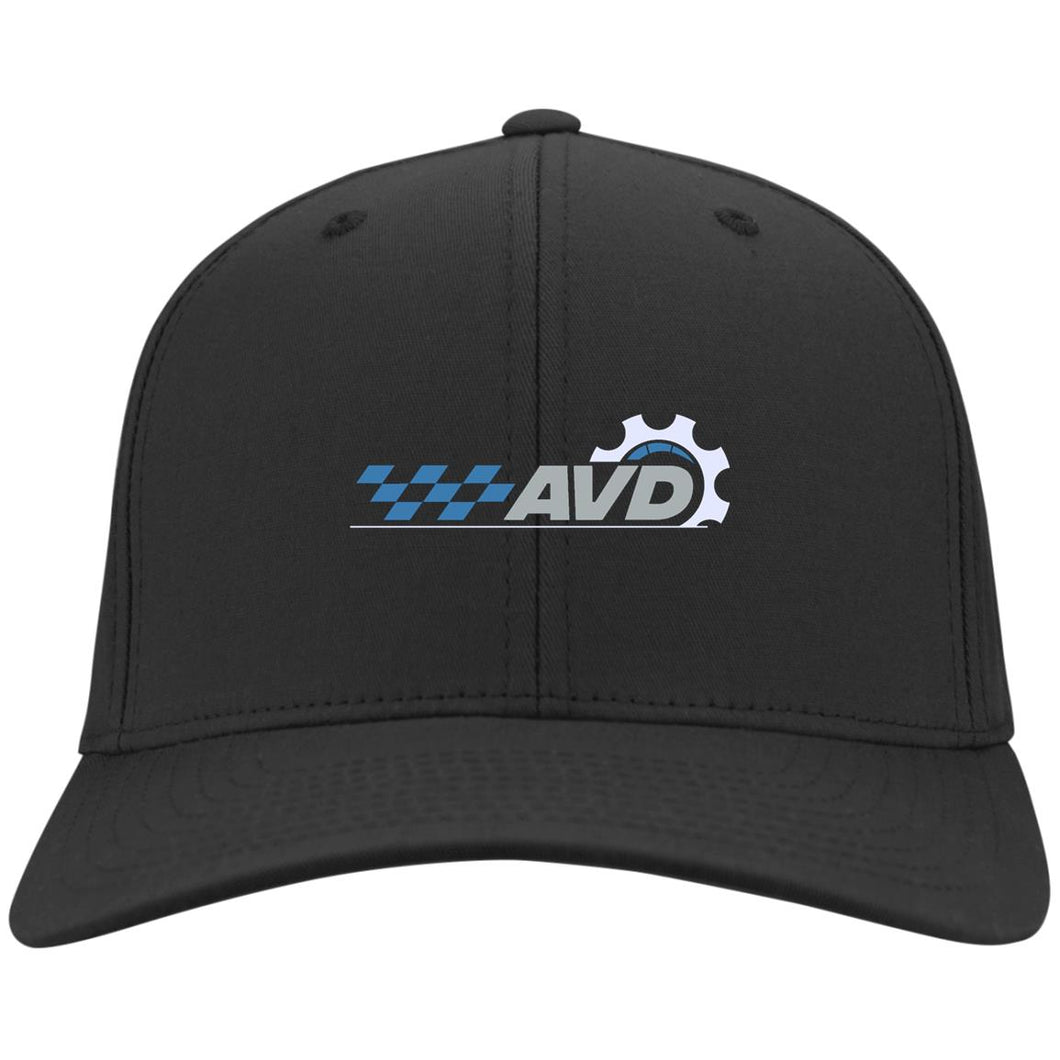 AVD embroidered logo C813 Port Authority Flex Fit Twill Baseball Cap