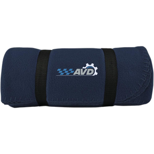 AVD embroidered logo BP10 Port & Co. Fleece Blanket