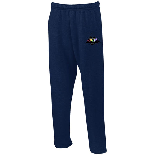 CO Springs Home School Sports League embroidered logo  G123 Gildan Open Bottom Sweatpants with Pockets