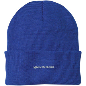 MacMechanic silver embroidered logo CP90 Port Authority Knit Cap