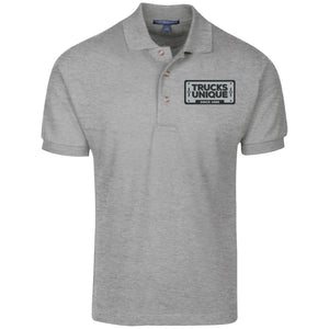 Trucks Unique black & silver embroidered logo K420 Port Authority Cotton Pique Knit Polo