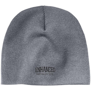 Enhanced Installs black embroidered CP91 100% Acrylic Beanie
