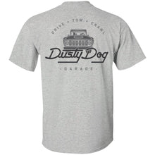 Load image into Gallery viewer, Dusty Dog gray logo 2-sided print G200 Gildan Ultra Cotton T-Shirt