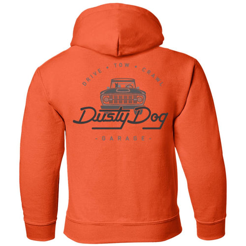 Dusty Dog gray logo 2-sided print G185B Gildan Youth Pullover Hoodie