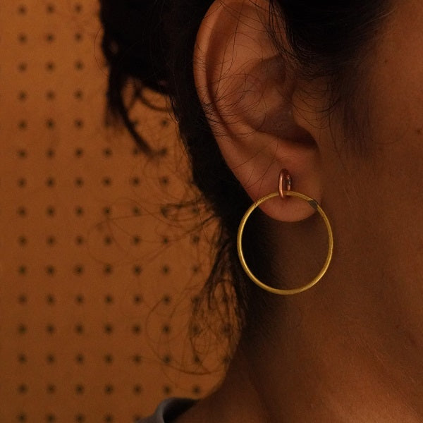 The Circle of Life ~ Copper Earring