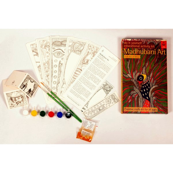 DIY Coloring Kit ~ Madhubani Painting of Bihar