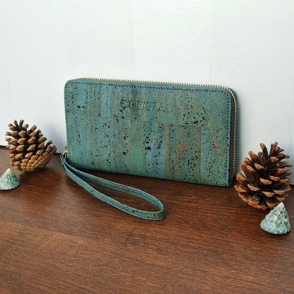 Teal Blue Wristlet Wallet