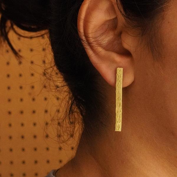 The Minimalist ~ Brass Earring
