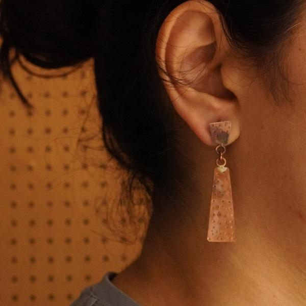 The Trapezium Effect ~ Copper Earring
