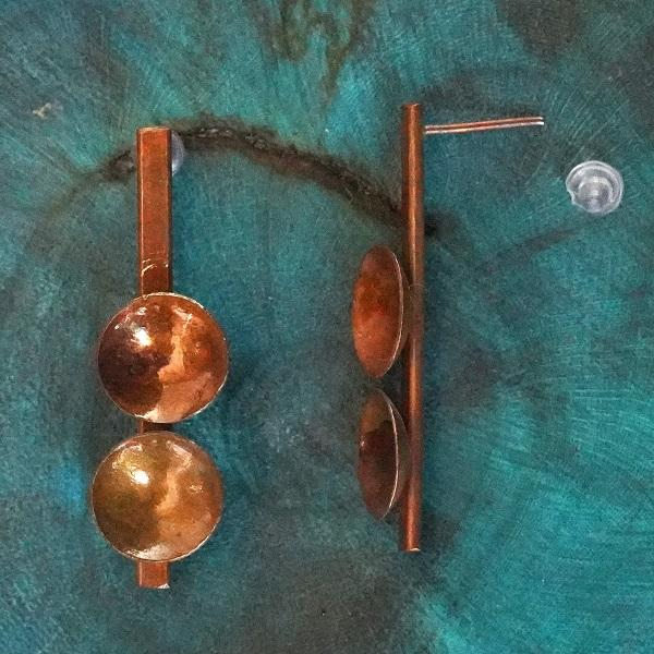 The Two Little Bowls ~ Copper Earring