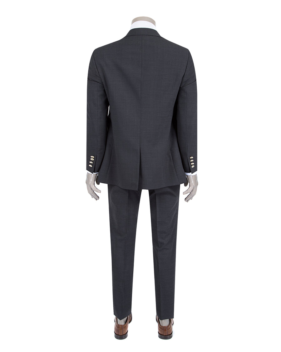 DS DAMAT ANZUG MIT WESTE (Slim Fit) by Business Titans