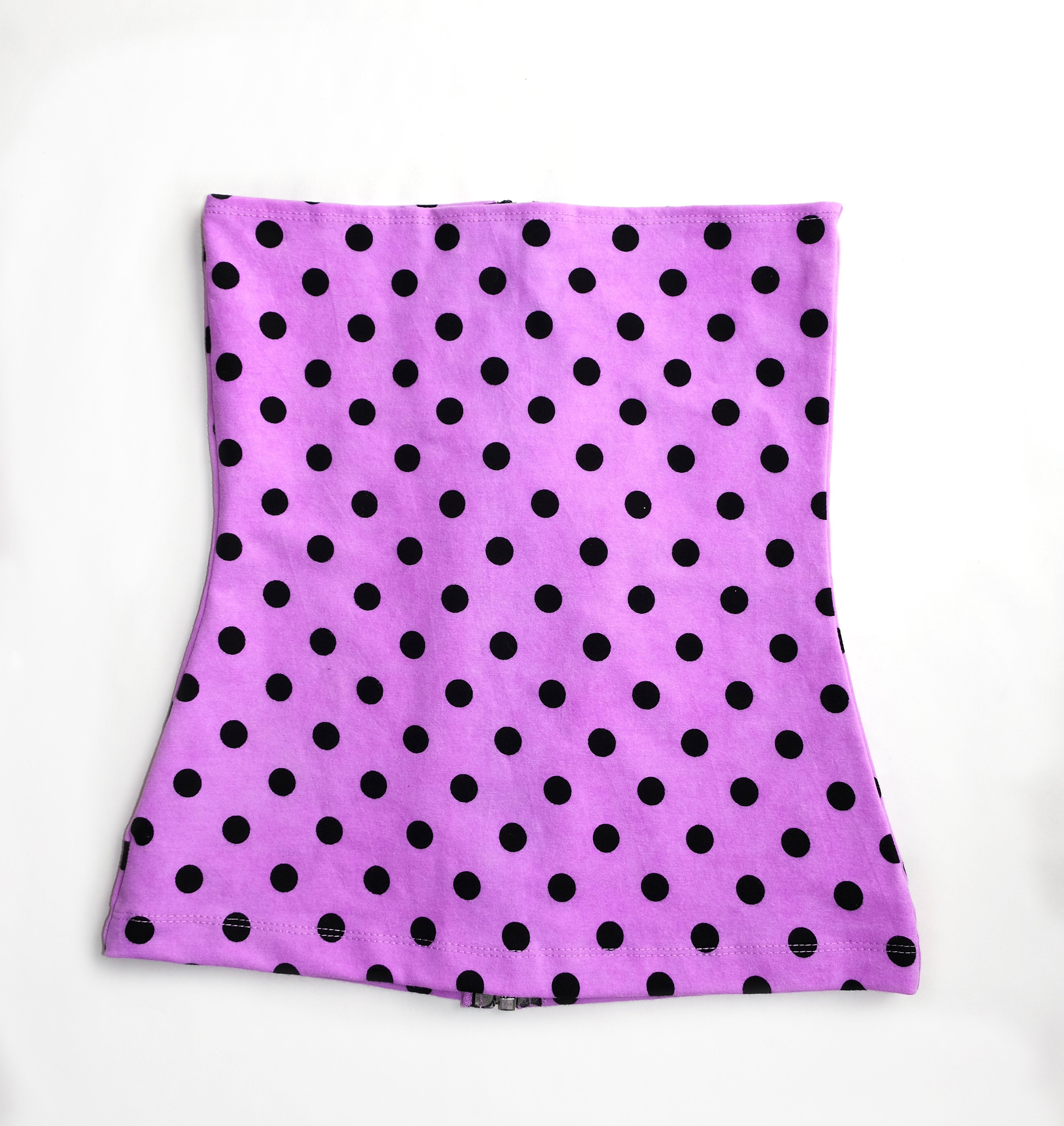 Purple Polkadot Boob Tube