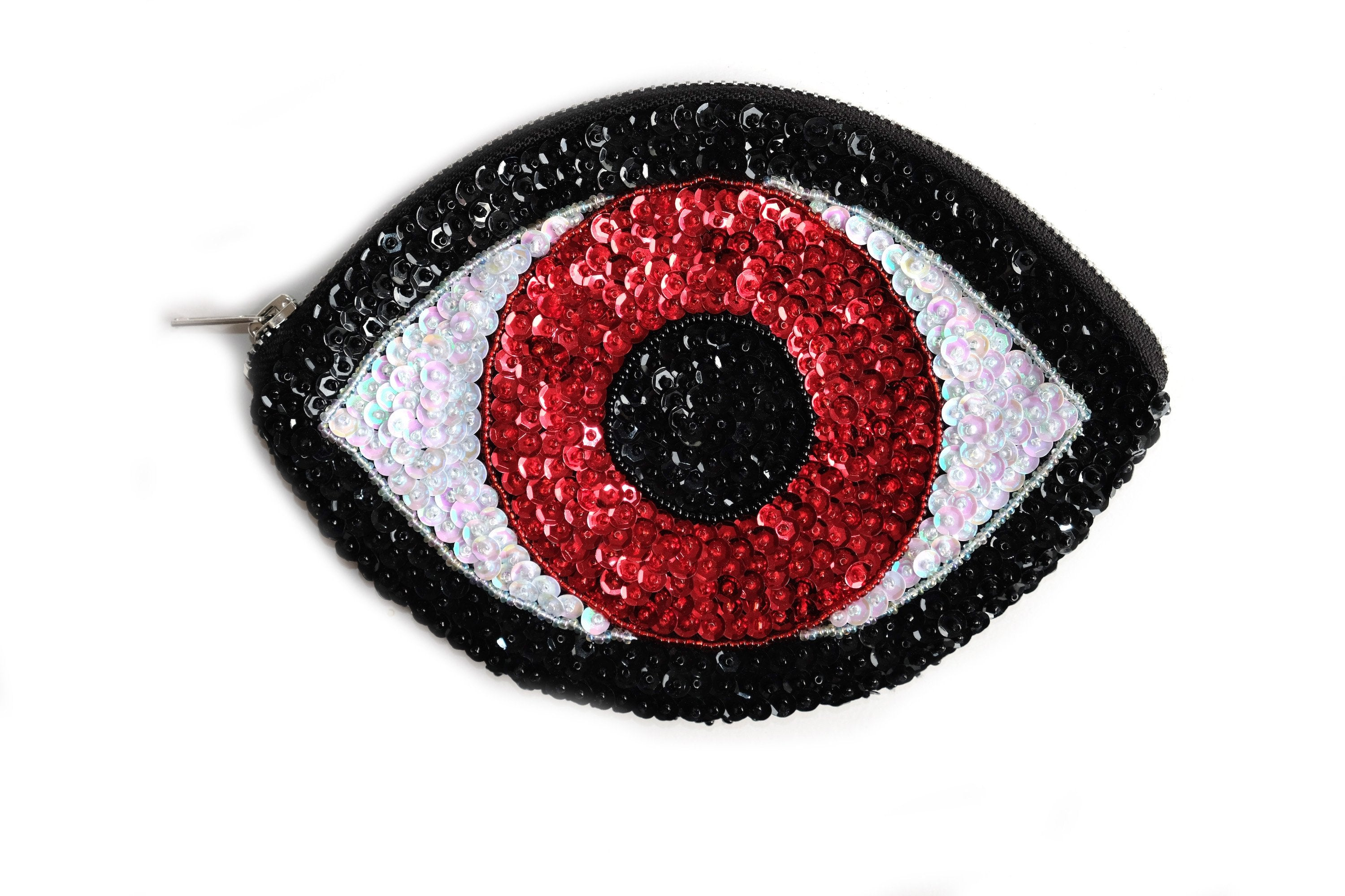 Red Evil Eye Wallet Medium