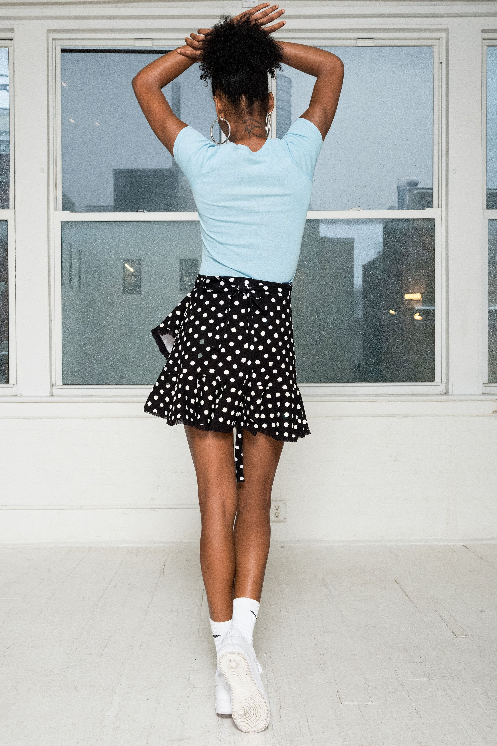 The Tainted Love Wrap Skirt in Black